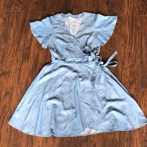 Flows Jean wrap dress